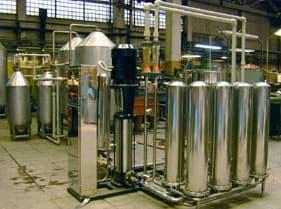 Установка для очистки входящей воды в промышленности