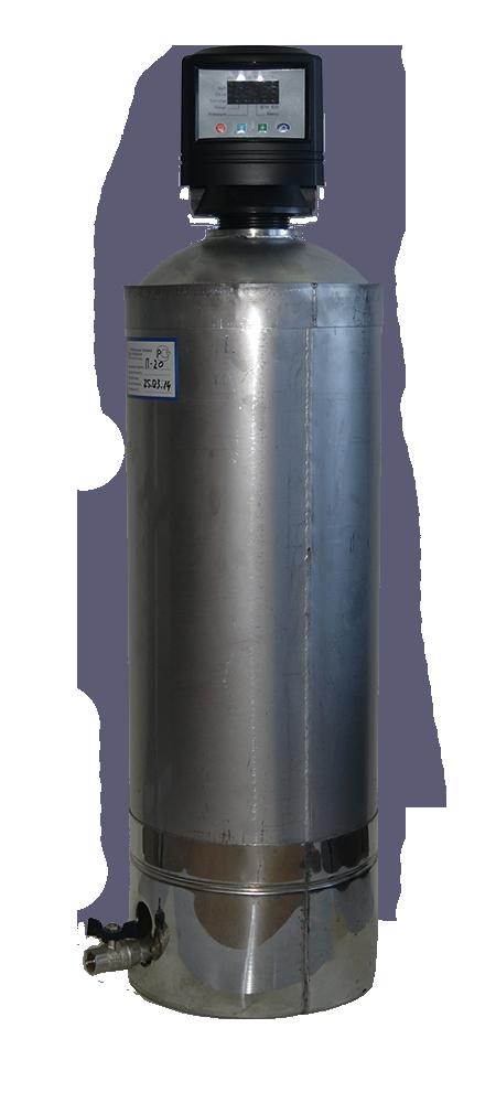Автоматический нержавеющий фильтр очистки воды от железа Сапфир-БР-А/нс
