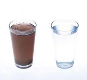 Грязная и чистая вода